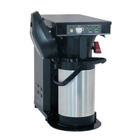 Curtis TLP12A Low Profile 18 inch Automatic Airpot Brewer with Stainless Steel Finish - 120V, 1500W