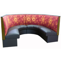 American Tables & Seating AS-423-1/2 3 Channel Back Upholstered Corner Booth 1/2 Circle - 42 inch High