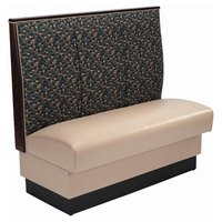 American Tables & Seating AS-483 Single 3 Channel Back Upholstered Booth - 48 inch High