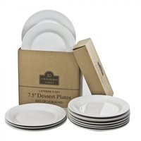 10 Strawberry Street CATERING-12(SALAD) Catering Packs Set of 12 Round 7 1/2 inch Salad / Dessert Plates - 2 Sets / Case