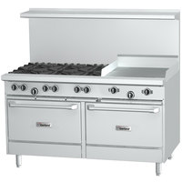 Garland G48-6G12CS Liquid Propane 6 Burner 48 inch Range with 12 inch Griddle, Convection Oven, and Storage Base - 254,000 BTU