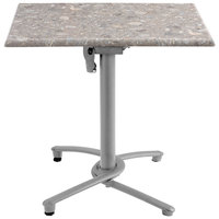 Grosfillex US809009 Silver Gray Aluminum Tilt Top Outdoor Table Base