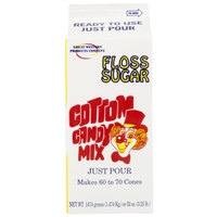 Great Western Purple Grape Cotton Candy Floss Sugar 1/2 Gallon Cartons 6 / Case