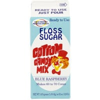 Great Western 1/2 Gallon Carton Blue Raspberry Cotton Candy Floss Sugar