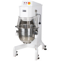 Doyon BTF040 40 Qt. Commercial Planetary Floor Mixer with Guard - 208-240V, 3 hp