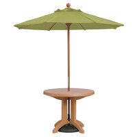 Grosfillex 98944931 7' Pesto Market Umbrella with 1 1/2 inch Wooden Pole