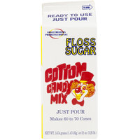 Great Western 1/2 Gallon Carton Apple Cotton Candy Floss Sugar