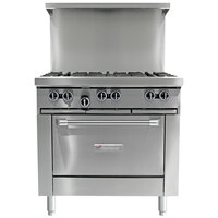 Garland G36-4G12C 4 Burner 36 inch Gas Range with 12 inch Griddle and Convection Oven - 188,000 BTU