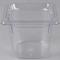 """Vollrath 8066410 1/6 Size Clear Polycarbonate Food Pan - 6"""" Deep"""