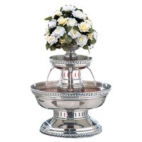 Buffet Enhancements 1BMFDC5SS 5 Gallon SS Champagne Fountain with Silver Rope Trim and Floral Cup