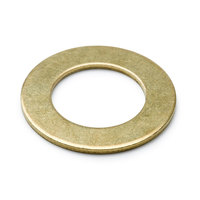 T&S 002290-45 3/32 inch Brass Faucet Washer with 1 31/32 inch OD x 1 3/16 inch ID Connections