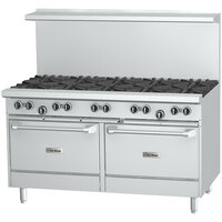 U.S. Range U60-6G24RR 6 Burner 60 inch Gas Range with 24 inch Griddle and 2 Standard Ovens - 304,000 BTU