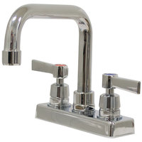 Advance Tabco K-124 Deck Mount Faucet with 4 inch Centers and 6 inch Swing Nozzle