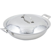 Bon Chef 60015HF Cucina 12 inch Hammered Finish Stainless Steel Chef's Pan with Lid and 2 Side Handles