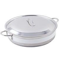 Bon Chef 60032CLD Cucina 9 Qt. White Brazier Pot with Cover
