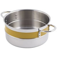 Bon Chef 62302NC Classic Country French Collection 4.3 Qt. Yellow Single Wall 1/2 Color Pot with Riveted Handles