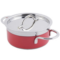 Bon Chef 60300 Classic Country French Collection 2.3 Qt. Red Pot with Cover