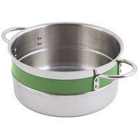 Bon Chef 62301NC Classic Country French Collection 3.3 Qt. Green Steam Table Pot with Riveted Handles