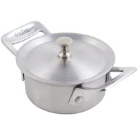 Bon Chef 60026 Cucina 8 oz. Stainless Steel Round Dish with Lid