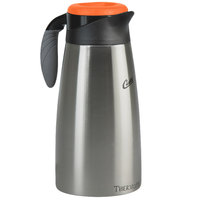 Curtis TLXP1901S000D 1.9 Liter Stainless Steel Decaf Coffee Server with Liner with Brew Thru Decaf Lid - 6/Case
