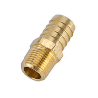T&S 004417-45 3/4 inch Barb Hose Connector with 1/2 inch NPT Connections