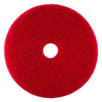 Scrubble by ACS 51-18 Type 55 18 inch Red Buffing Floor Pad - 5 / Case