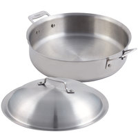 Bon Chef 60001 Cucina 4 Qt. Stainless Steel Saute Use Pan with Lid