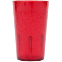 Cambro 500P156 Colorware 5.2 oz. Ruby Red Plastic Tumbler - 6/Pack