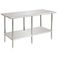 Advance Tabco MS-249 24 inch x 108 inch 16 Gauge Stainless Steel Commercial Work Table with Stainless Steel Undershelf