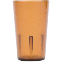 Cambro 500P153 Colorware 5.2 oz. Amber Plastic Tumbler - 6/Pack