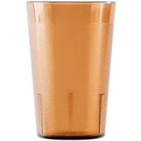 Cambro 800P153 Colorware 7.8 oz. Amber Plastic Tumbler - 6/Pack