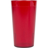 Cambro 1200P156 Colorware 12.6 oz. Ruby Red Plastic Tumbler - 6/Pack