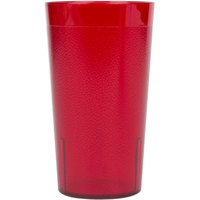 Cambro 1200P156 Colorware 12.6 oz. Ruby Red Plastic Tumbler - 6 / Pack