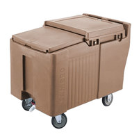 Cambro ICS175L157 Coffee Beige Sliding Lid Portable Ice Bin - 175 lb. Capacity