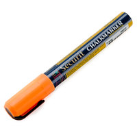 American Metalcraft BLSMA510OR Securit All-Purpose Small Tip Orange Marker - 2/Pack