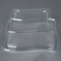Fineline Wavetrends 106-L Clear Dome Lid for 6 1/2 inch Plate - 120 / Case