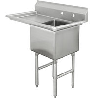 Advance Tabco FC-1-1824-18 One Compartment Stainless Steel Commercial Sink with One Drainboard - 38 1/2 inch