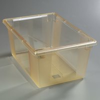 Carlisle 10623C22 StorPlus Yellow Food Storage Box - 26 inch x 18 inch x 12 inch