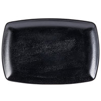 Elite Global Solutions JW7312 Zen 12 1/4 inch x 8 1/2 inch Black Rectangular Platter
