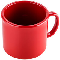 Carlisle 4305805 10 oz. Red Stackable Polycarbonate Mug - 12 / Case