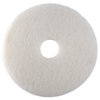 Scrubble by ACS 41-21 Type 41 21 inch White Polishing Floor Pad   - 5/Case