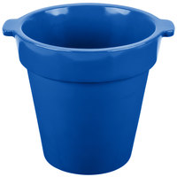 Tablecraft CW1440 1.75 Qt. Round Cobalt Blue Condiment Crock / Bowl