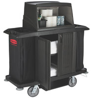 Rubbermaid 9T19 Classic Full Size Housekeeping Cart with Doors (FG9T1900BLA)