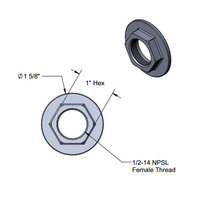 T&S 016742-45 Easy Install Center Flange Nut