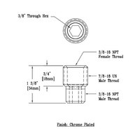 T&S 015881-40 Adapter with 3/8 inch NPT Male and Female Connections