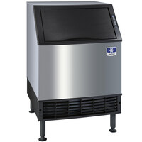 Manitowoc UY-0140W NEO 26 inch Water Cooled Undercounter Half Size Cube Ice Machine with 90 lb. Bin - 126 lb.