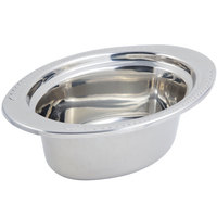 Bon Chef 5403 13 inch x 9 inch x 5 inch Stainless Steel 3.75 Qt. Laurel Design Full Size Oval Food Pan