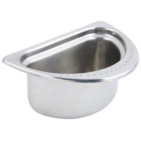 Bon Chef 5302 7 inch x 9 inch x 5 inch Stainless Steel 1 Qt. Half Size Bolero Design Oval Food Pan