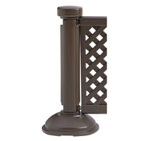 Grosfillex US960423 Resin Fence Post and Interlocking Base - Brown