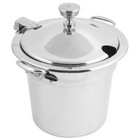 Bon Chef 5411WHCHRSS 7 Qt. Stainless Steel Laurel Deign Soup Tureen with Hinged Cover and Stainless Steel Handles